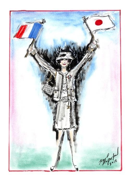 scketch by Karl Lagerfeld