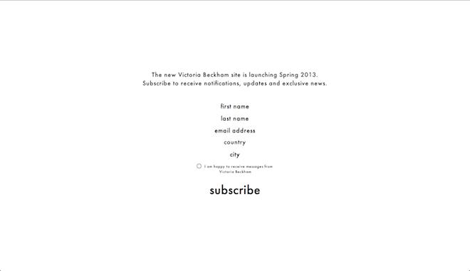 Victoria Beckham 公式サイトより