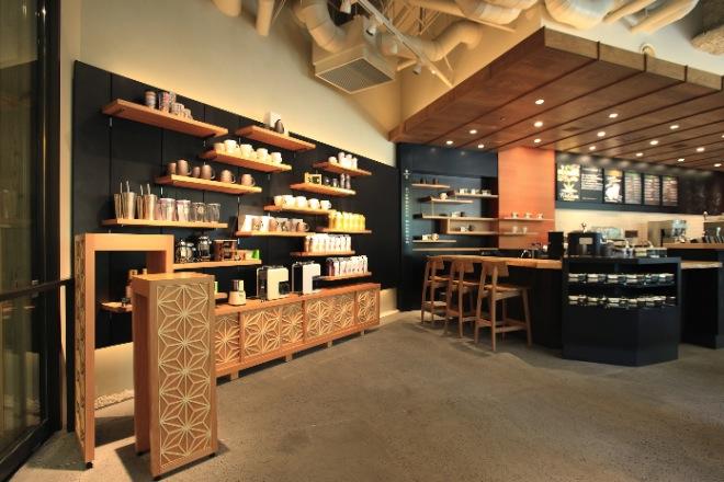 スターバックス「和」がコンセプトの新型店 本社ビルにオープン