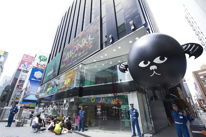 オープン初日のMONKI日本1号店(外観)