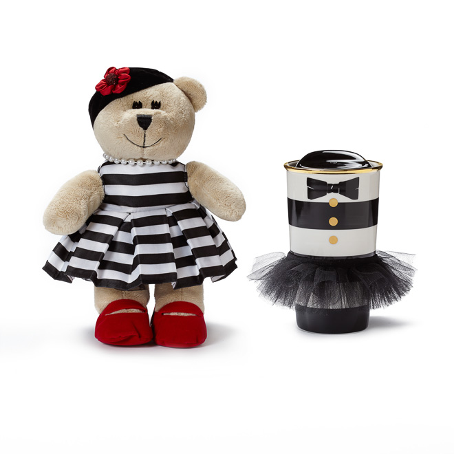 alice + olivia Designer Double Wall Ceramic Tumbler & Bearista Bear