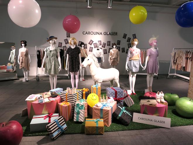 CAROLINA GLASER ブランドイメージを刷新した際の展示会