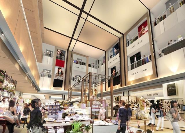 ノースゲートビルディング西館の新商業施設パース