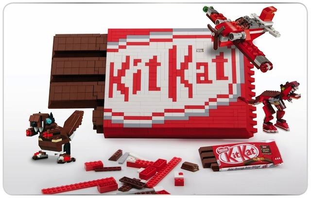 対象年齢は9才〜99才 非売品のレゴでできたキットカットの画像
