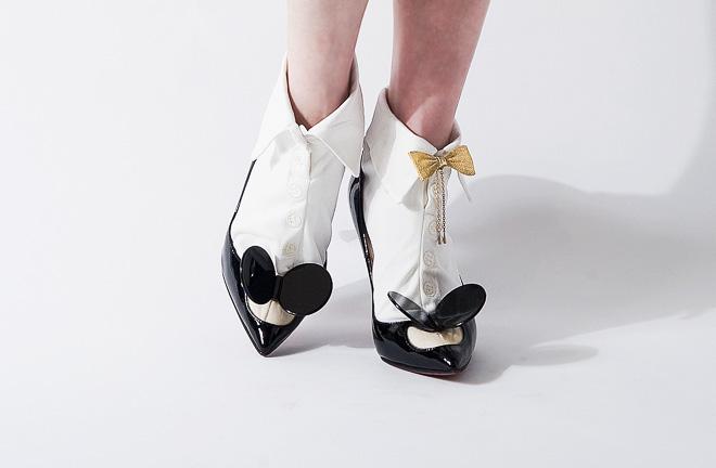 PLAIN:WHT×WHT(税込¥3,564)、Bow tie anklet bless(税込¥3,240)