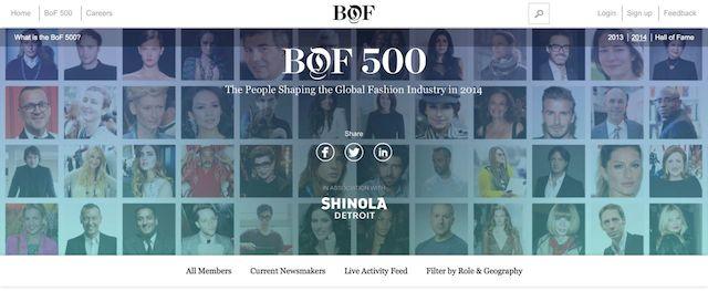 BOF世界のファッション業界人トップ500にアンリアレイジ森永や伊勢丹の大西社長らの画像