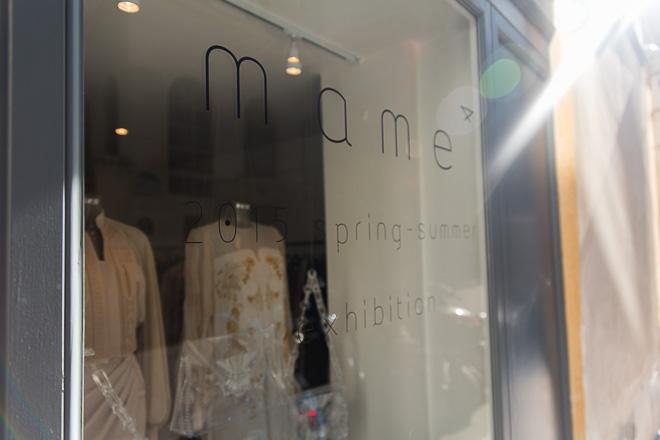 mame 2015年春夏コレクション展示会場