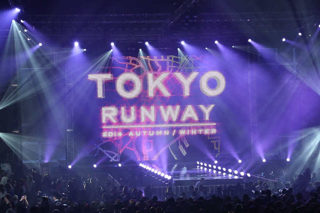 今日開催「東京ランウェイ 2014 AUTUMN / WINTER」のオープニング