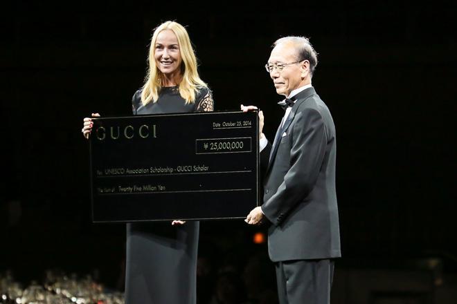 GUCCI フリーダ・ジャンニーニと日本ユネスコ協会連盟 野口昇