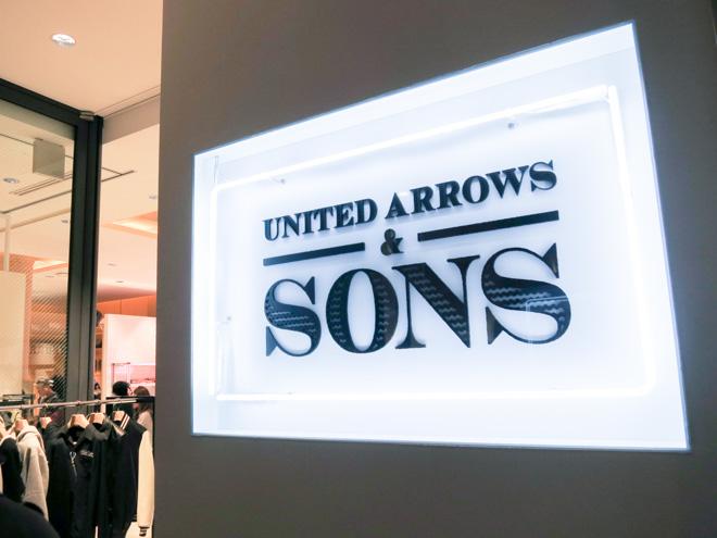 増床した「UNITED ARROWS & SONS」1階