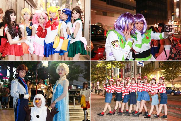 【画像】ハロウィン当日の渋谷でスナップ 今年はキャラコスの集団仮装が人気〈2014年〉の画像
