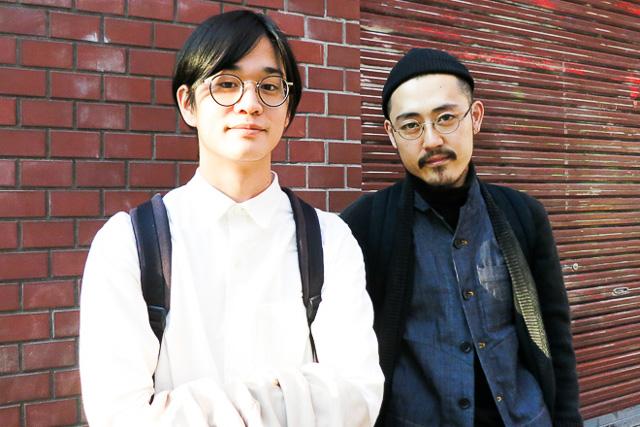 左から)パタンナー島村幸大太、デザイナー島瀬敬章(13年12月撮影)