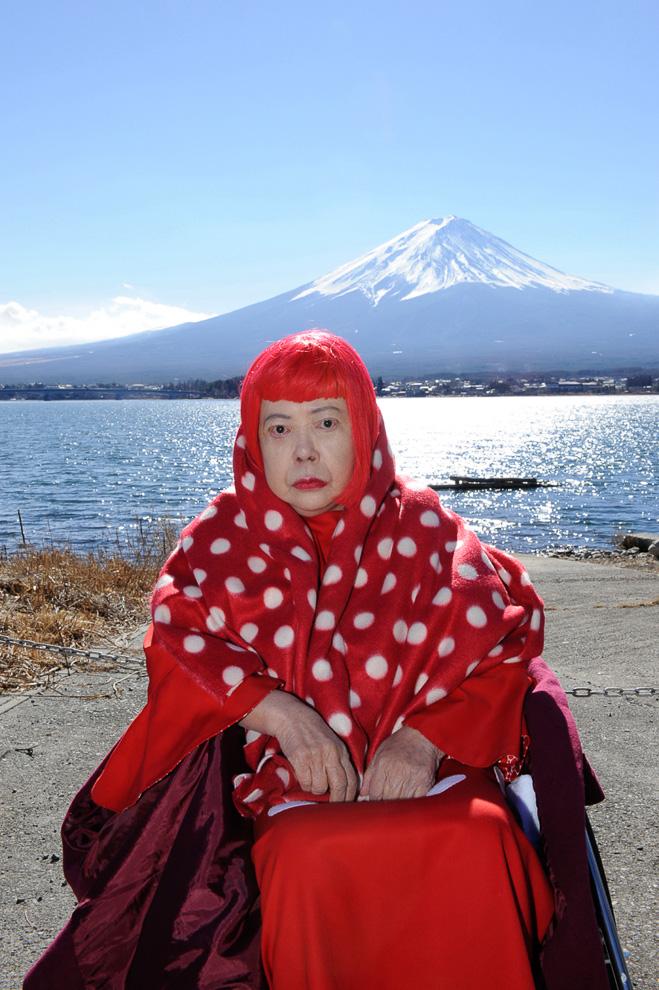 ドキュメンタリー「ザ・プレミアム 草間彌生の富士山 ~浮世絵版画への挑戦~」メインビジュアル