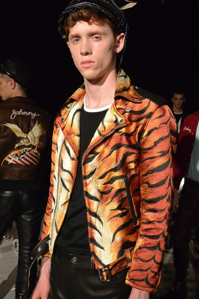 CHRISTIAN DADA 2016年春夏コレクション 総刺繍のライダースジャケット