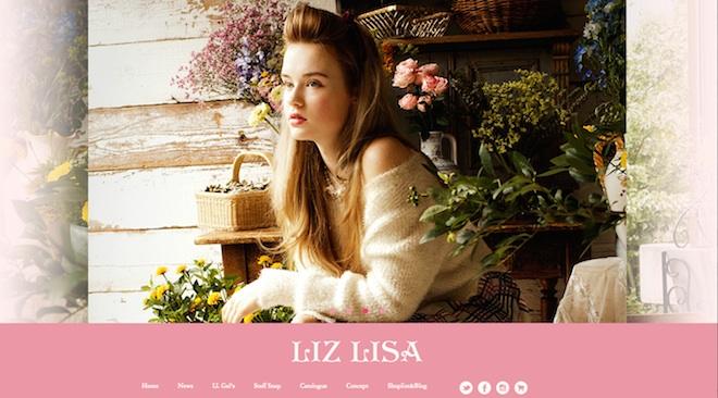 LIZ LISAのHPトップ