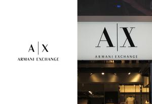 「アルマーニ エクスチェンジ」のロゴが変更に