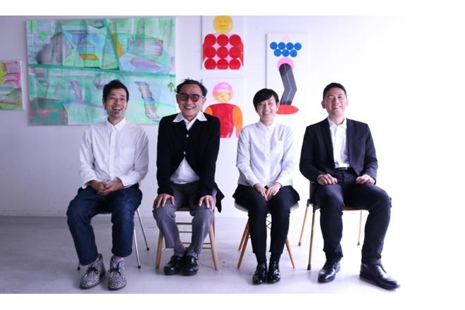 (左から)スマイルズ新取締役 野崎亙、遠山正道 代表取締役社長、スープストックトーキョー取締役 江澤身和、スープストックトーキョー取締役社長 松尾真継
