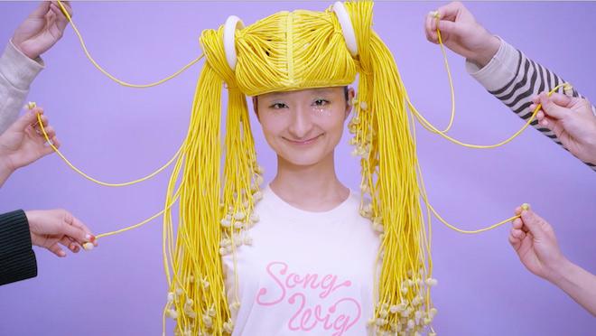 音楽をシェアできるクレイジーなウィッグ「Song Wig」が登場の画像