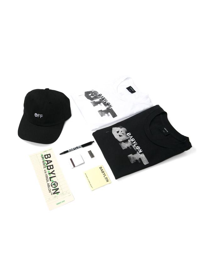 "「Off-White™%Babylon LA ""I QUIT"" collab pack」(税別1万5,000円)"