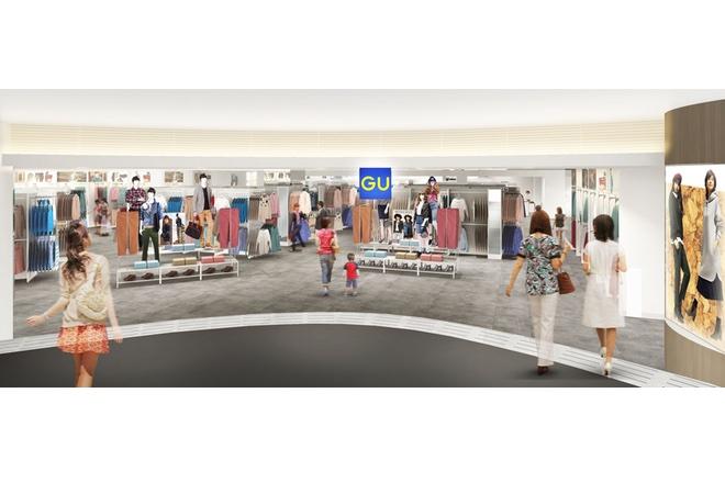 ウィンザーハウス内にオープンするGU店舗イメージ