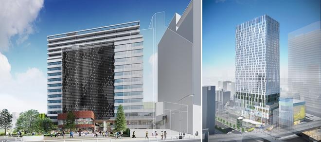(左)「渋谷キャスト」(右)「渋谷ストリーム」