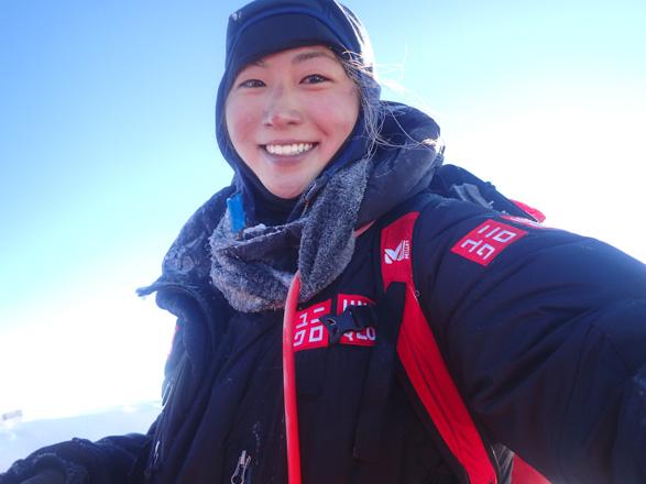 エベレスト登頂時の南谷真鈴