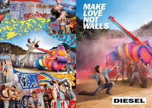"""""""愛の戦車""""で壁を玉砕、ディーゼルが新広告のビジュアル公開"""