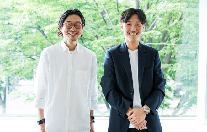 左から「ファクトタム(FACTOTUM) 」の有働幸司、谷正人代表取締役 CEO