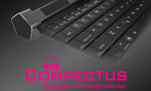持ち運べるスピーカー付きBluetoothキーボード「Compectus」発売の画像