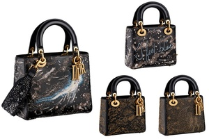 銀河や十二星座が刺繍されたブルーの「レディ ディオール」限定コレクション上陸
