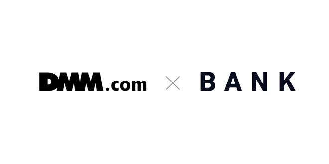 DMM.comとバンク社のロゴ