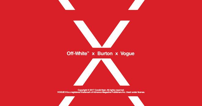Off-White x Burton x Vogue