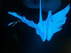 無機EL技術を用いた「光る折り紙」登場の画像