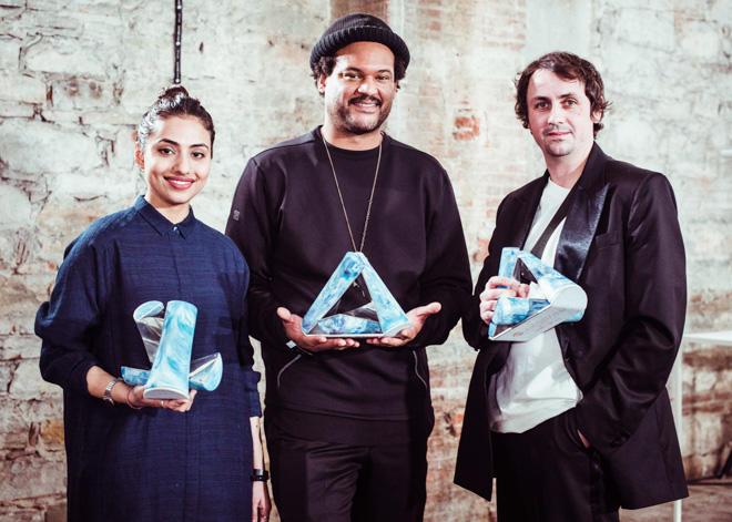 左から「Bodice」のRuchika Sachdeva、「DYNE」のChristoper Bevans、「Matthew Miller」のMatthew Miller