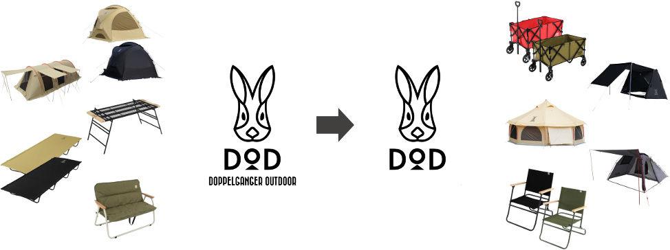 ドッペルギャンガーアウトドアがブランド名を dod に変更