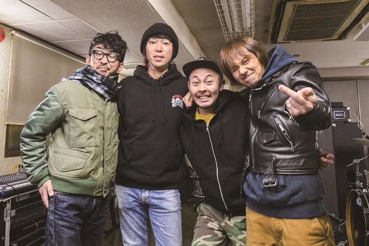(左から)恒岡章、難波章浩、岸田哲平、横山健 Photo by Teppei Kishida