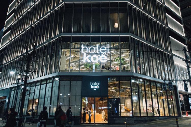 「hotel koe tokyo」外観