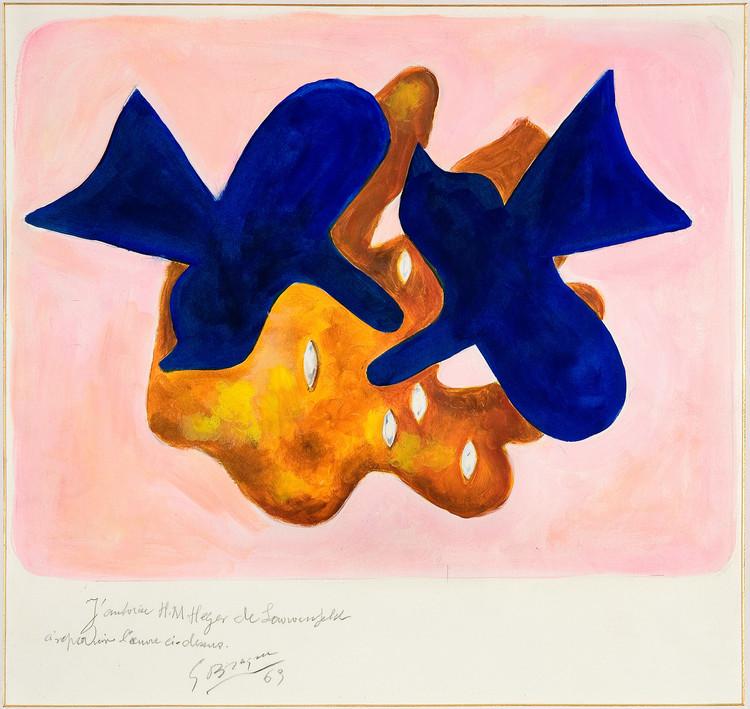 ジョルジュ・ブラック ≪青い鳥、ピカソへのオマージュ≫ 1963年 グワッシュ  サン=ディエ=デ=ヴォージュ市立ジョルジュ・ブラック‐メタモルフォーシス美術館蔵