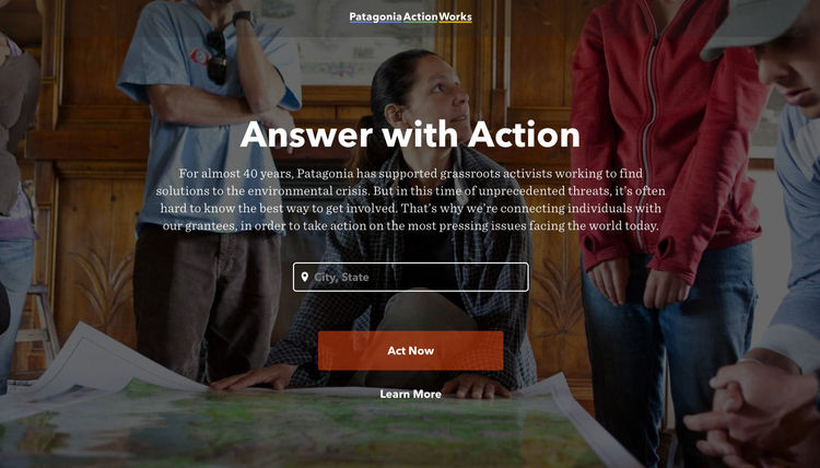 「Patagonia Action Works」サイトより
