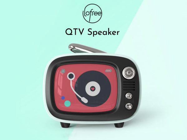 ブラウン管テレビがリバイバル?レトロデザインのスピーカー「Lofree QTV」に注目の画像