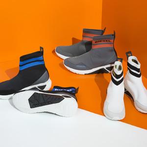 「ディーゼル」から靴下のようなデザインに仕上げた新作スニーカーが登場