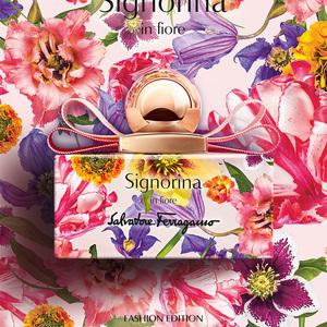 サルヴァトーレ フェラガモ、カラフルな花々で彩られた香水発売