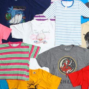 「パスザバトン」がリサイクルTシャツとヴィンテージTシャツを展示販売
