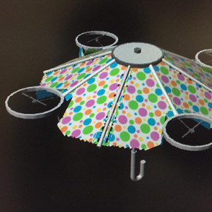 持ち主の上空で飛ぶドローンパラソルを栃木の企業が開発中