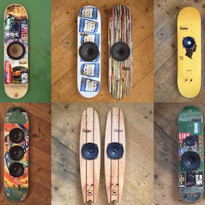 スケートボードスピーカー「dajac」新作が並ぶエキシビション開催
