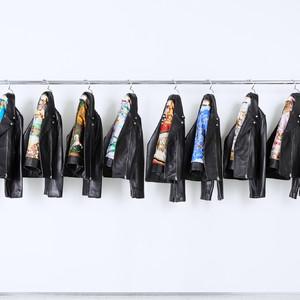 ミュベール、裏地にヴィンテージスカーフ用いた1点物ライダース発売