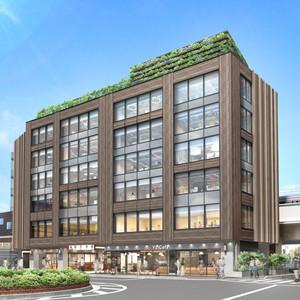 東急が祐天寺に駅ビル開業、初の保育園連携型オフィス