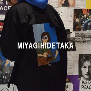 ミヤギヒデタカがAZUSAIIDAとコラボ、イラストを飾り付けた服を展開