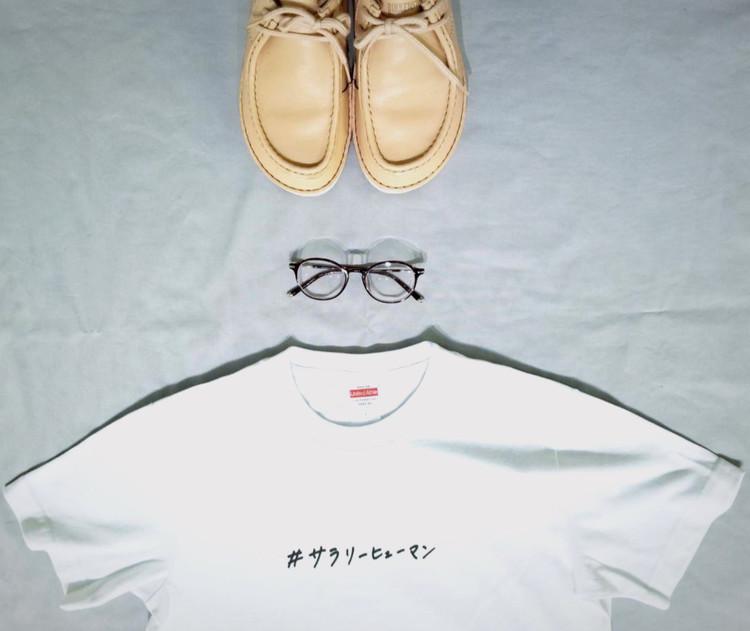 「サラリーヒューマン Tシャツ」