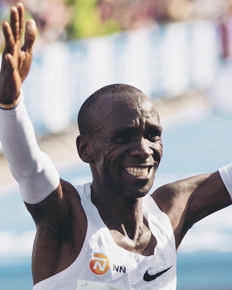 ベルリン・マラソンでのエリウド・キプチョゲ選手